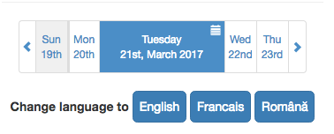 Changing the language for the Bootstrap Date Paginator plugin